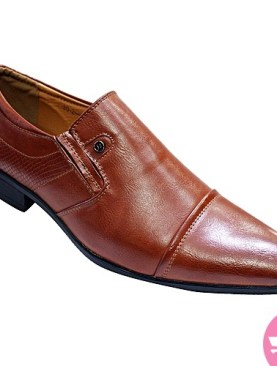 Men's hand carved gentle shoes- brown