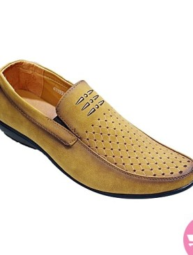 Men's stylish casual mocassin shoes - brown