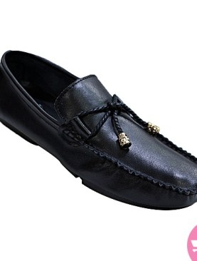 Men's stylish slip on mocassin shoes - black