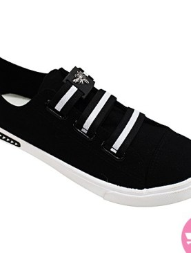 Men's stylish sneakers - black and white