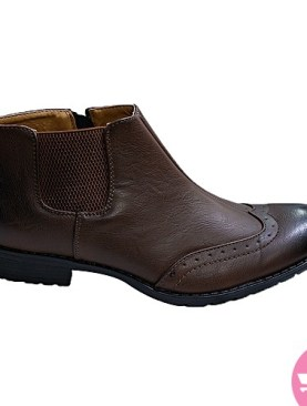 Men's stretching boot shoes - brown