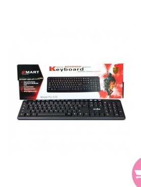 Smart FC-530 Waterproof Internet USB Keyboard - Black