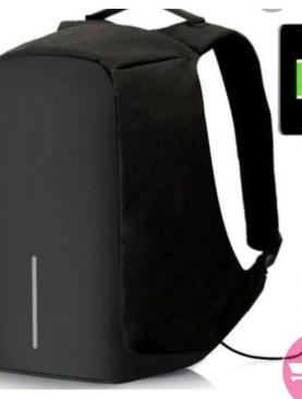 Anti Theft Designer Laptop Bag with USB Port- Black