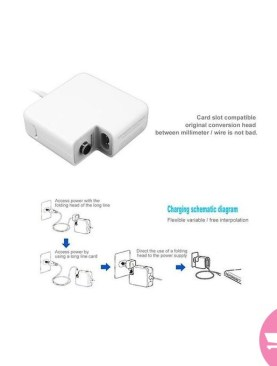 Power Adapter For Apple Computer Charger FOR Apple Macbook Pro white EU Plug 220-240V - White
