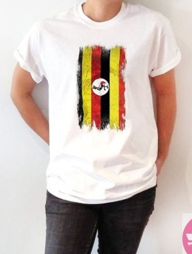 Ugandan flag t-shirt-White.