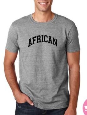 African pride t-shirt-Grey