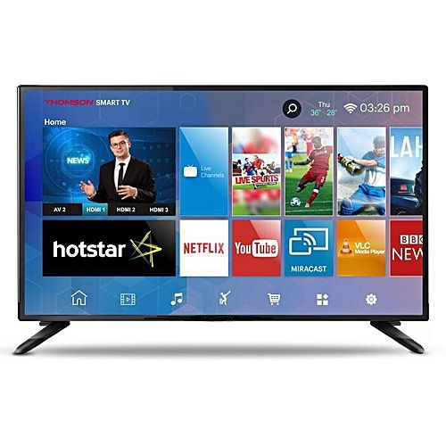 "Hisense 32"" Smart TV with Ready Internet on YouTube, Netflix & Inbuilt Free  to Air Digital Decoder -Black 