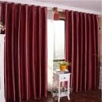 shiny maroon curtain