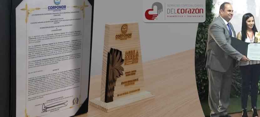 SEFCB Ganador del premio Gestión Ambiental Empresarial Sostenible GAES CORPONOR