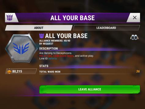 Alliance info