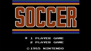 Ecran titre de Soccer