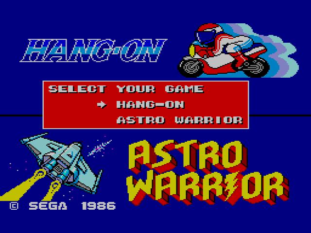 Combo Carts – Hang On / Safari Hunt and Hang On / Astro Warrior