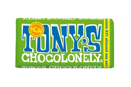 Tony's Dark Chocolate Almond Seasalt 180 g