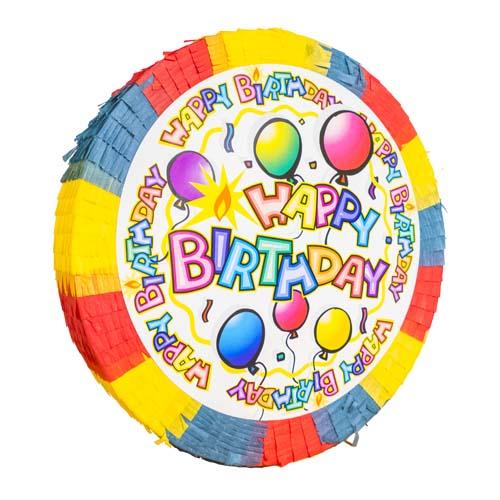 Pinata Happy Birthday - Regnbågsfärgad