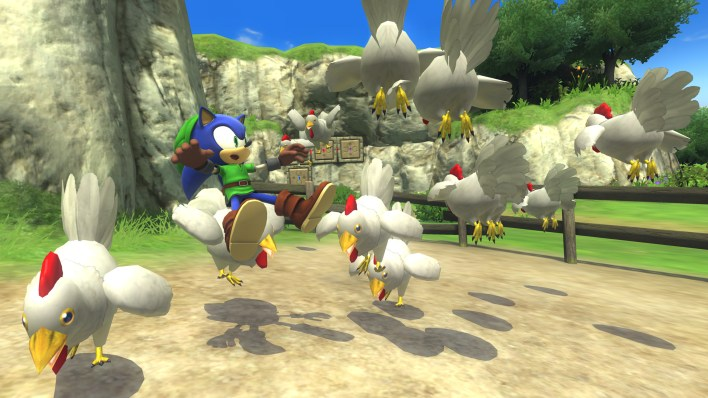 Sonic Link chickens