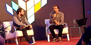 Stefano Arnhold (right), Tectoy chairman at Comic Con Experience 2016.