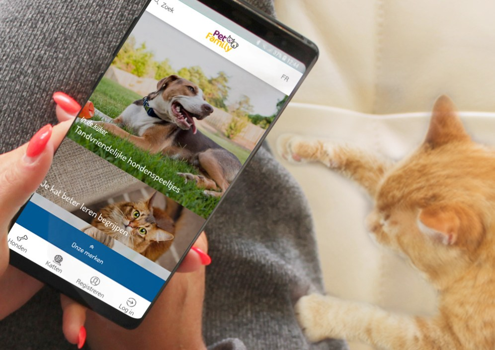 Pet Family Homepage Mobile