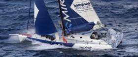 """""""Mirabaud"""" vor Gibraltar. Das 51-jährige Pärchen Dominque Wavre (SUI) und Michèle Paret (FRA) bekam Besuch vom Zoll, liegt aber auf Platz vier gut im Rennen. © BWR"""