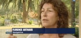 Florence Arthaud berichtet im französischen Fernsehen