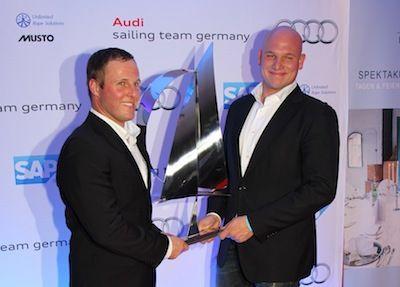 Die ersten Segler des Jahres 2012: WM-Silbermedaillen-Gewinner im Star Robert Stanjek und Frithjof Kleen. © STG/Kähl