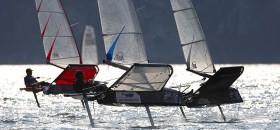 Die Foiler Motten trainieren schon seit einigen Tagen auf dem Gardasee. © ThMartinez.com