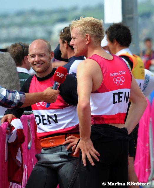 Erst am Ende der letzten Medalrace Kreuz schiebt sich Dänemark in der Gesamtwertung vor die Österreicher, die das Finale gewinnen. © Marina Könitzer