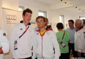 Ferdinand Gerz und Patrick Follmann verpassten das Medalrace um zwei Punkte.  © Marina Könitzer