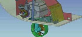 """Der """"Hetairos""""-Antrieb kann aus dem Rumpf geklappt und gedreht werden. © Ocean Yachts Systems"""