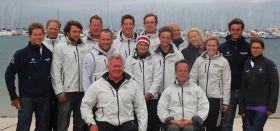 Das Sailing Team Germany bei der Verabschiedung in Kiel. © STG