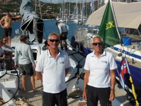 Thomas Jungblut (r.) und Niels Heyde führen die deutsche Swan60 und haben schon vor Porto Cervo geübt. © Nord Stream Race