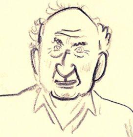 Der Promi-Architekt und Segel-Enthusiast Volkwin Marg als Karrikatur. © Activ of London