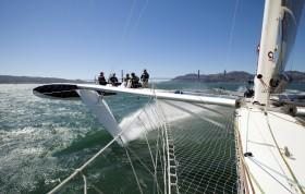 Zum Apèro auf Foils durch die Bucht von San Francisco © Christophe Launay