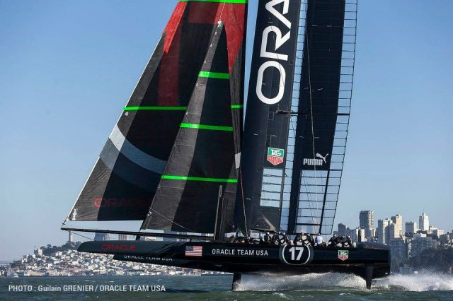 Stabile Fluglage? © Guilain Grenier / Oracle Team USA