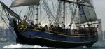 Die HMS Bounty auf der mündung des Hudson Rivers © hmsbounty