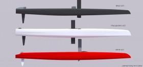 Vergleich der drei verschiedenen AC72 Designs. Team New Zealand und Luna Rossa benutzen die gleiche Plattform. © catsailingnews