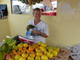Jede Menge frisches Obst für die Atlantik-Überquerung. © magsail