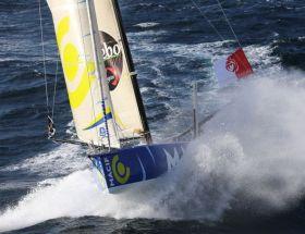 """Der Vendée Globe Führende Francois Gabart hat mit """"Macif"""" die Angriffe der Flotte im Westen souverän abgewehrt.  © Jean-Marie Liot / DPPI"""