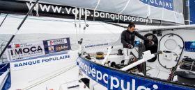 """Armel Le Cleac'h hat sich auf der """"Banque Populaire"""" seinen Weg an die Spitze gekurbelt. © Jean-Marie Liot / DPPI"""