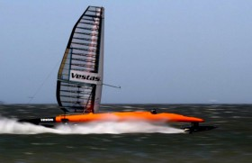 Vestas Sailrocket II im High-Speed-Modus. © Sailrocket