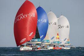 Bei jedem Rennen geht es in der Flotte der Archambault 35 eng zu. © Jean-Marie Liot / ASO