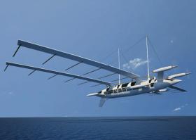Vision, Segeln, fliegende Segelyacht, segelndes Flugzeug