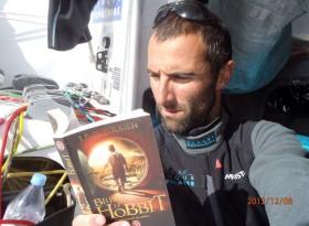 """Le Cléac'hs letztes Foto von Bord vor zehn Tagen: """"Der kleine Hobbit"""".  © Le Cléac'h"""