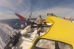 Bernhard Stamm ist im Southern Ocean schnell unterwegs mit seinem kraftvollen Kouyoumdjian Design. © Stamm