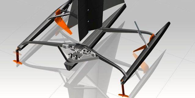 """Nach dem Verlust des Sponsors DCNS ist """"Hydroptère II"""" meilenweit von der Realisierung entfernt. © VPLP"""
