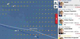 Die Vendée Globe Situation am 14.11. Die beiden Spitzenreiter haben sich schon weit abgesetzt.