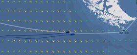 Francois Gabart segelte bei der Vendée Globe einen tieferen Kurs zum Kap Horn