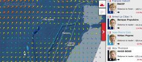 Vendée Globe Karte am 23.1.
