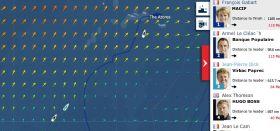 Vendée Globe am 24.1. Das Spitzen-Duo passiert die Azoren.