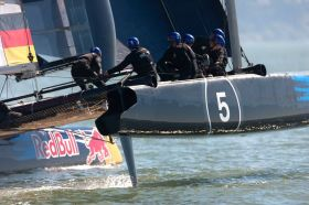 STG/NRV Team beim Red Bull Youth America's Cup