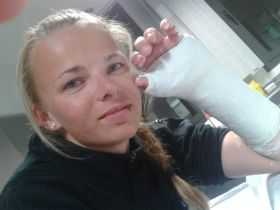 Tanja Frank, Nacra 17, Hand gebrochen